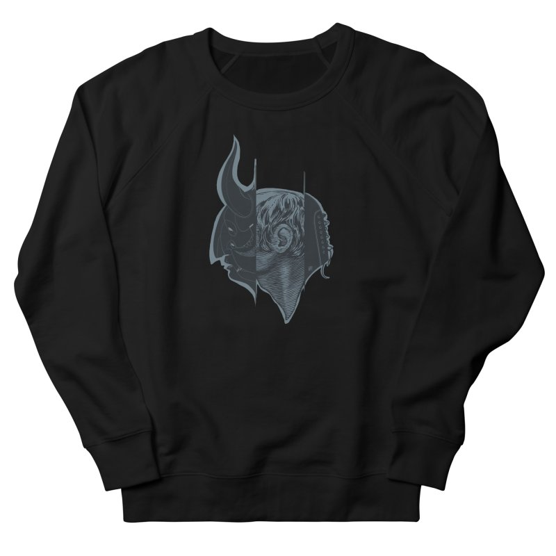 Demon mask / Gray Women's Sweatshirt by fake smile