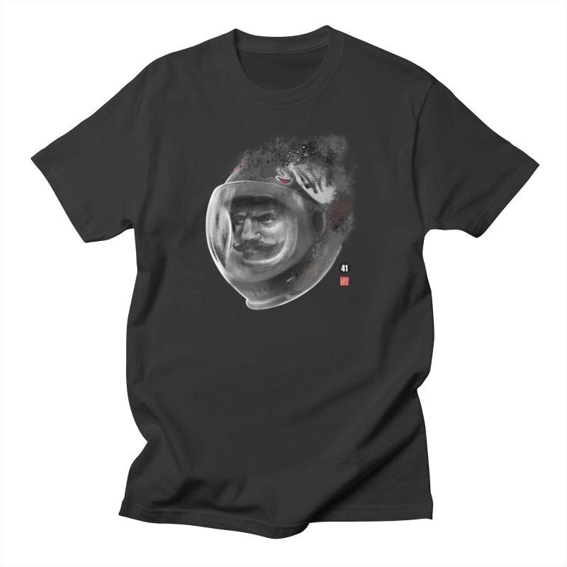 The Astronaut in Men's Regular T-Shirt Smoke by fake smile