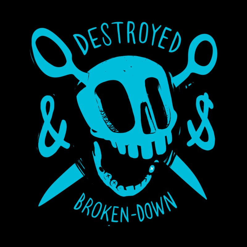 Destroyed & Broken-down blue by fake smile