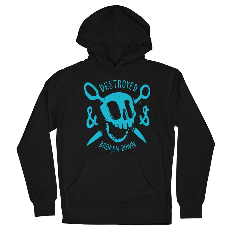 Destroyed & Broken-down blue Women's Pullover Hoody by fake smile