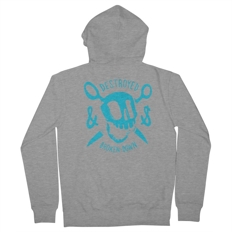 Destroyed & Broken-down blue Women's Zip-Up Hoody by fake smile