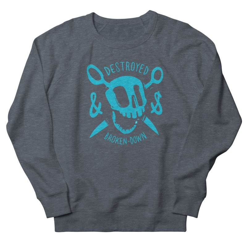 Destroyed & Broken-down blue Men's Sweatshirt by fake smile