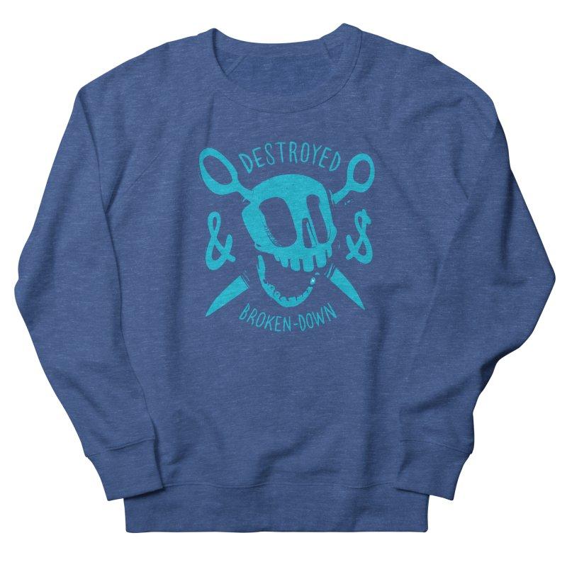Destroyed & Broken-down blue Men's Sweatshirt by fake smile