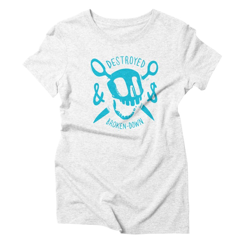 Destroyed & Broken-down blue Women's Triblend T-shirt by fake smile