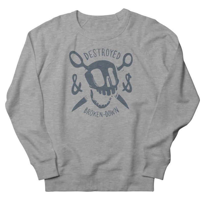 Destroyed & Broken-down gray Men's Sweatshirt by fake smile