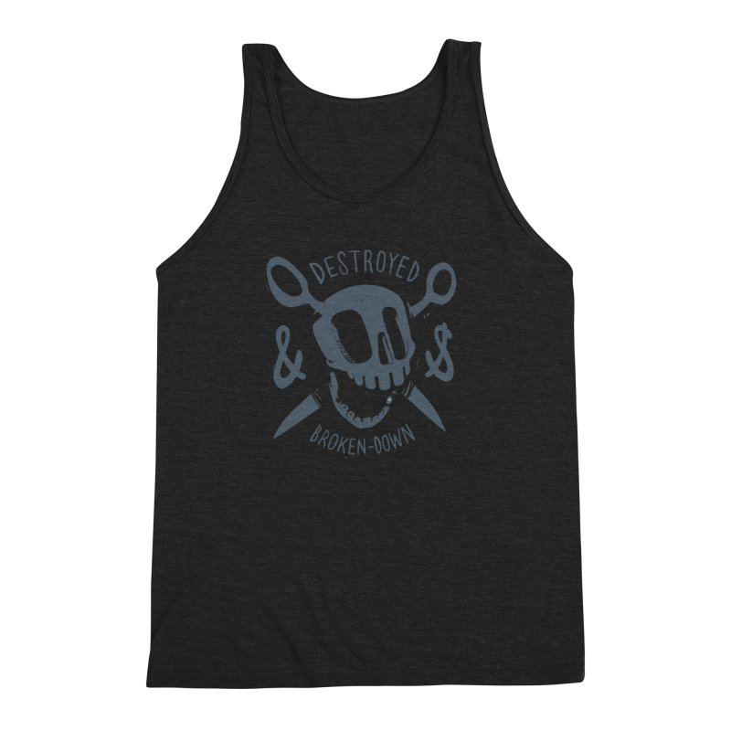 Destroyed & Broken-down gray Men's Triblend Tank by fake smile