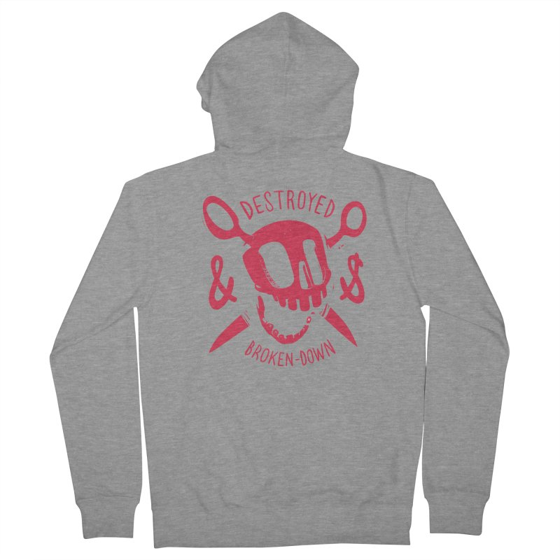 Destroyed (pink) Women's Zip-Up Hoody by fake smile