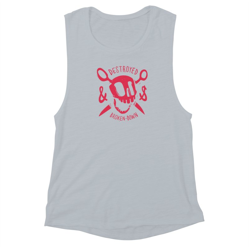 Destroyed (pink) Women's Muscle Tank by fake smile
