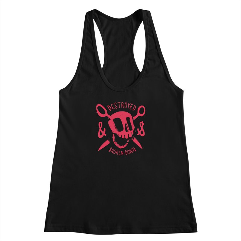 Destroyed (pink) Women's Racerback Tank by fake smile