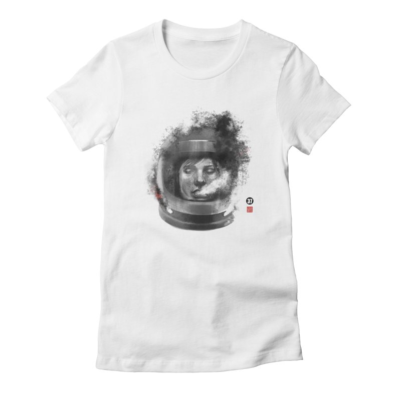 Astronaut no. 2 Women's Fitted T-Shirt by fake smile