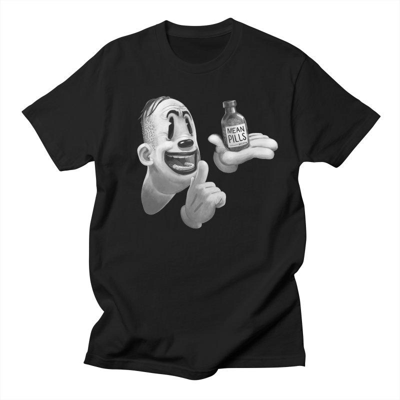 Mean Pills in Men's Regular T-Shirt Black by fake smile