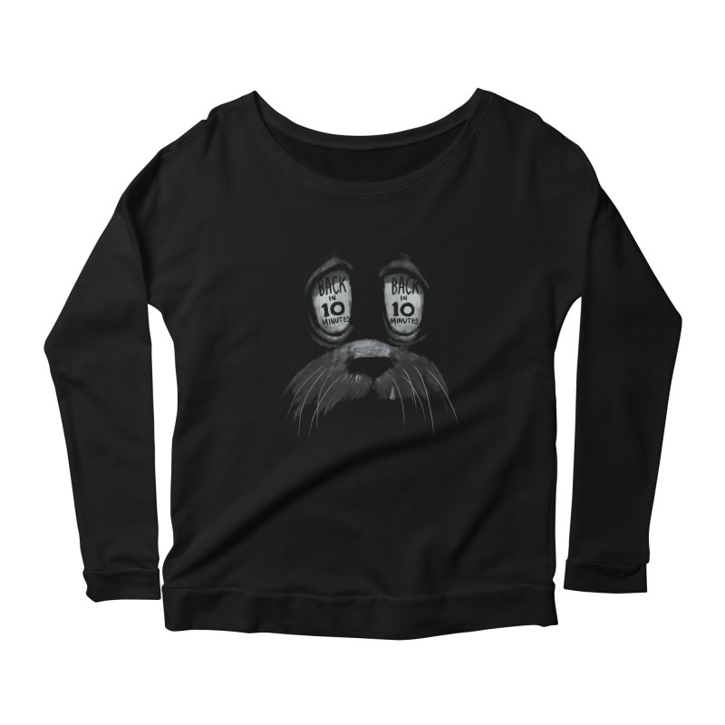 Back in 10 Women's Longsleeve Scoopneck  by fake smile