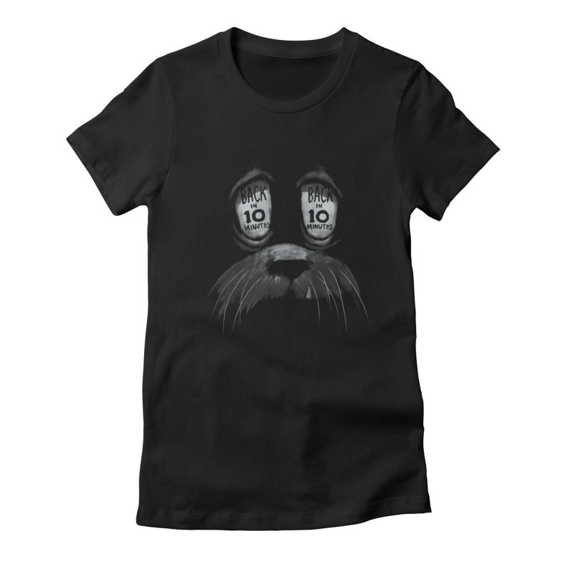 Back in 10 in Women's Fitted T-Shirt Black by fake smile