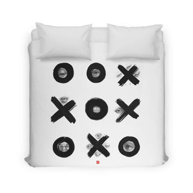 Tic Tac Toe Home Duvet by fake smile