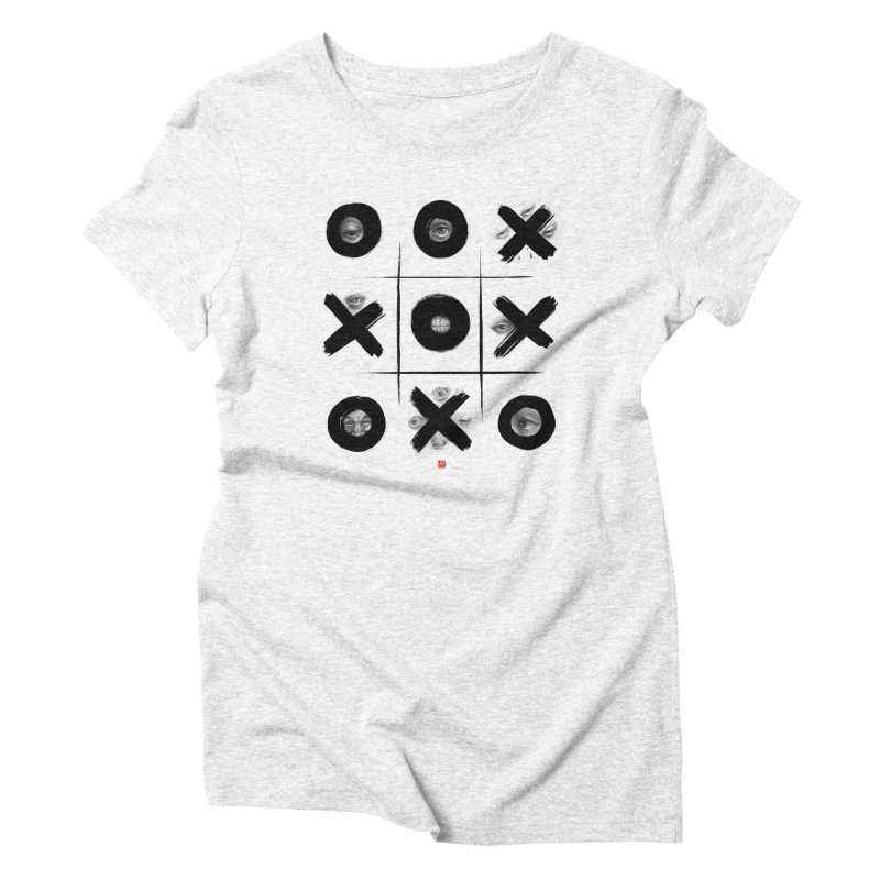 Tic Tac Toe Women's Triblend T-shirt by fake smile