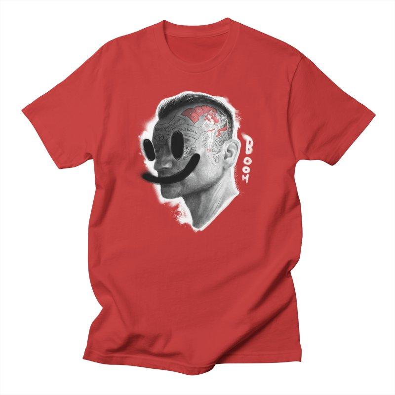 Boom V2 in Men's Regular T-Shirt Red by fake smile