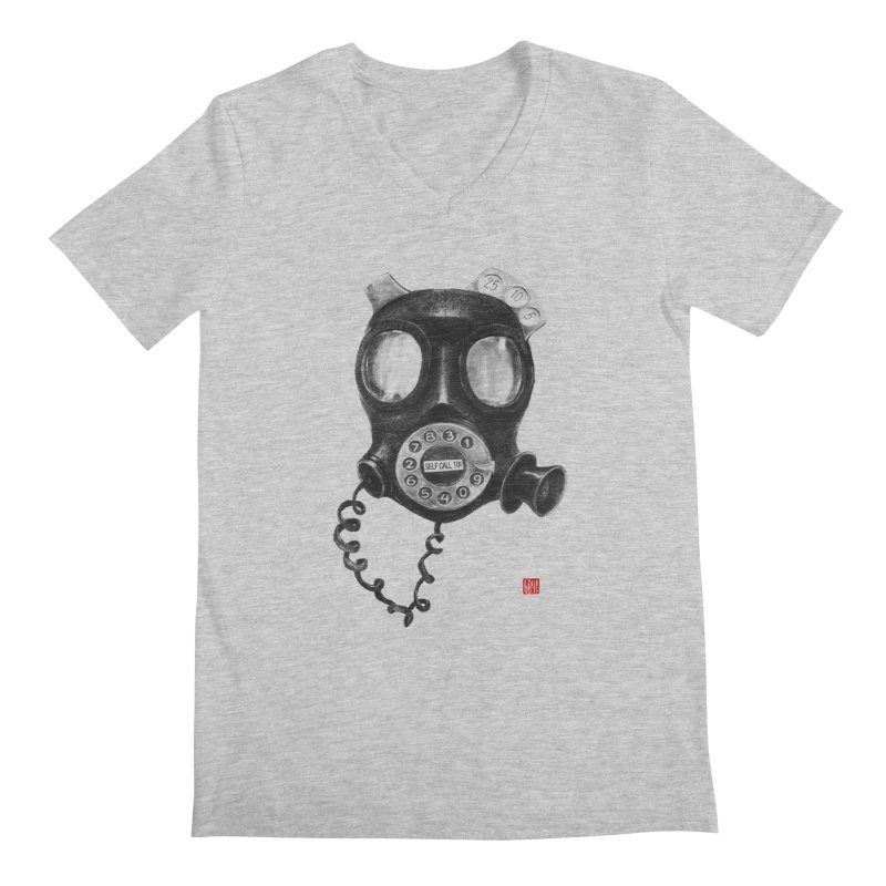 Personal phone booth Men's V-Neck by fake smile