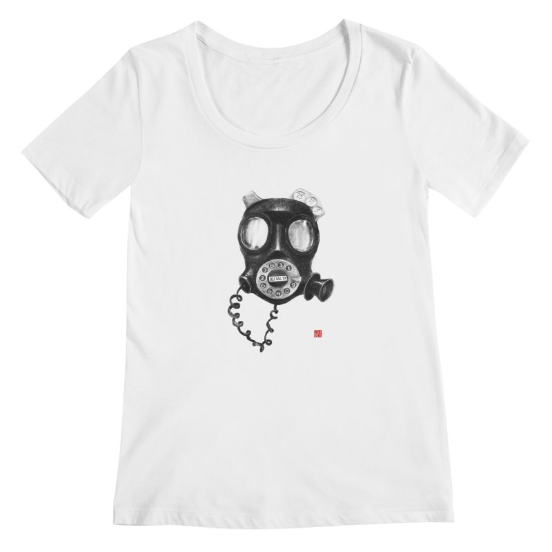 Personal phone booth Women's Scoopneck by fake smile