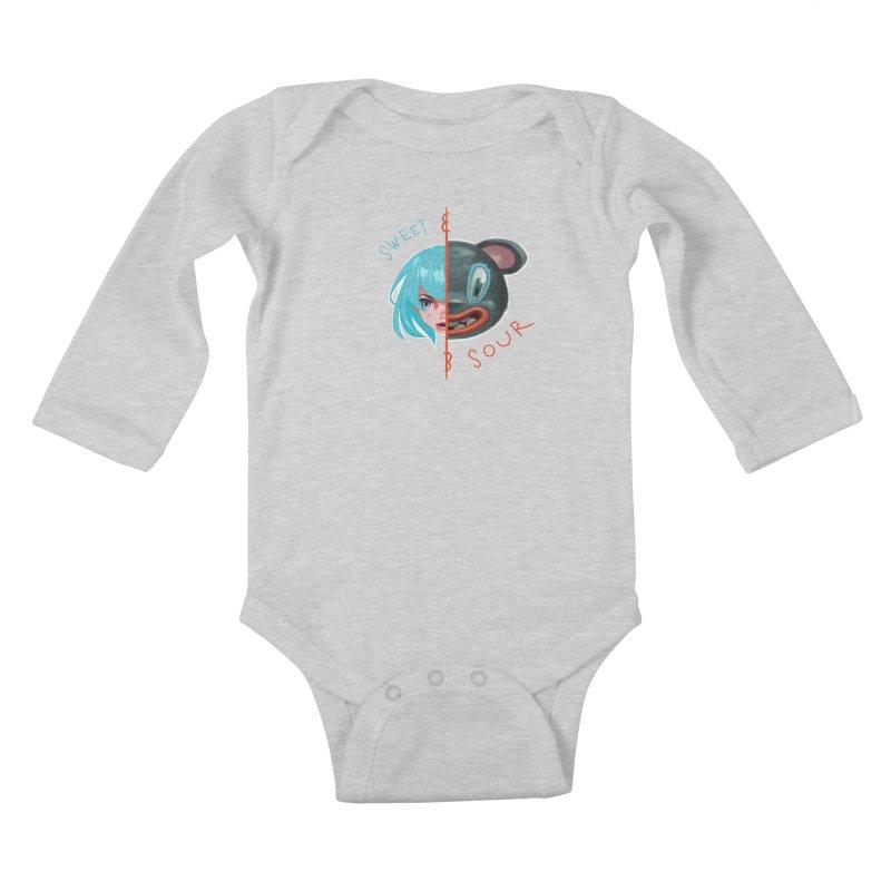 Sweet & sour Kids Baby Longsleeve Bodysuit by fake smile