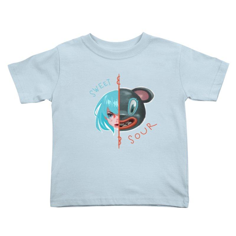 Sweet & sour Kids Toddler T-Shirt by fake smile