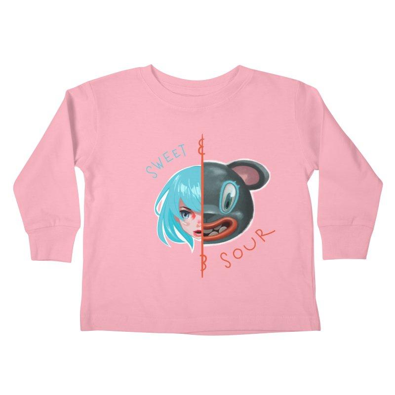 Sweet & sour Kids Toddler Longsleeve T-Shirt by fake smile