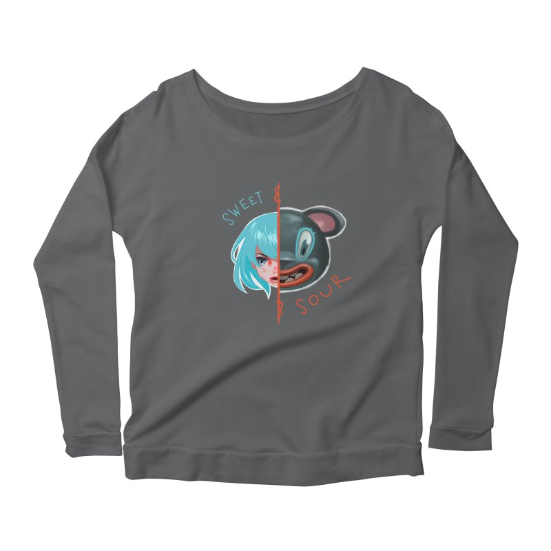 Sweet & sour Women's Longsleeve Scoopneck  by fake smile