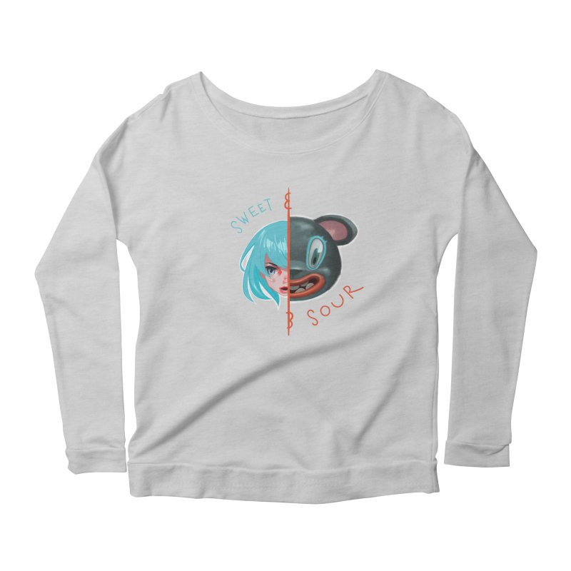 Sweet & sour Women's Scoop Neck Longsleeve T-Shirt by fake smile