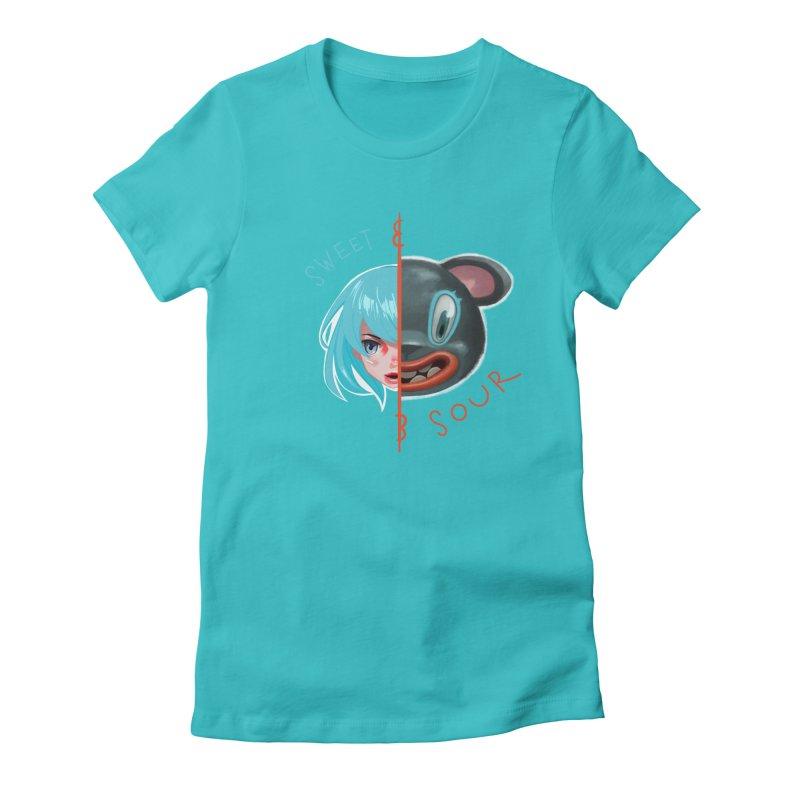 Sweet & sour Women's Fitted T-Shirt by fake smile