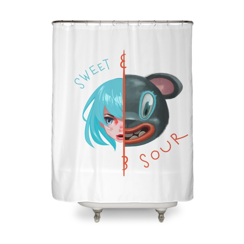 Sweet & sour Home Shower Curtain by fake smile