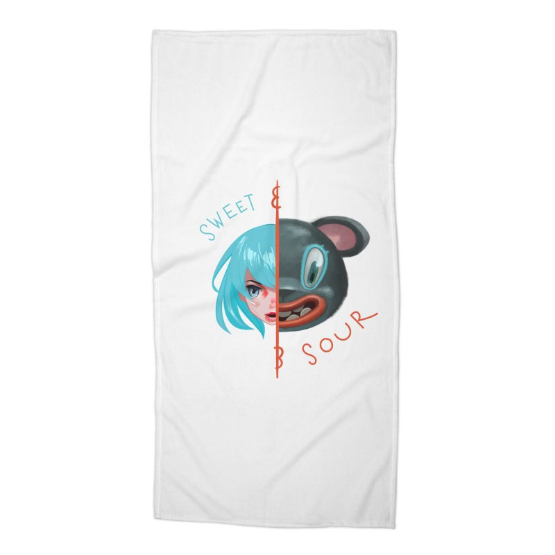 Sweet & sour Accessories Beach Towel by fake smile