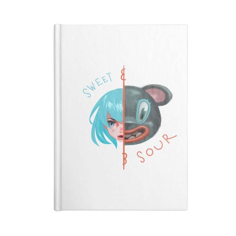 Sweet & sour Accessories Blank Journal Notebook by fake smile
