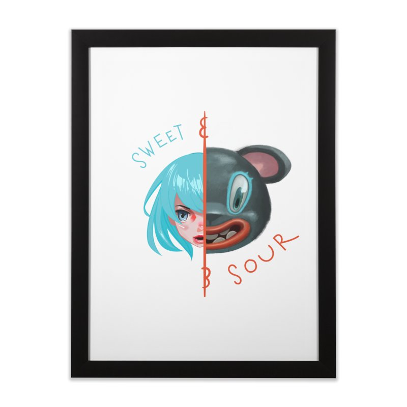Sweet & sour Home Framed Fine Art Print by fake smile