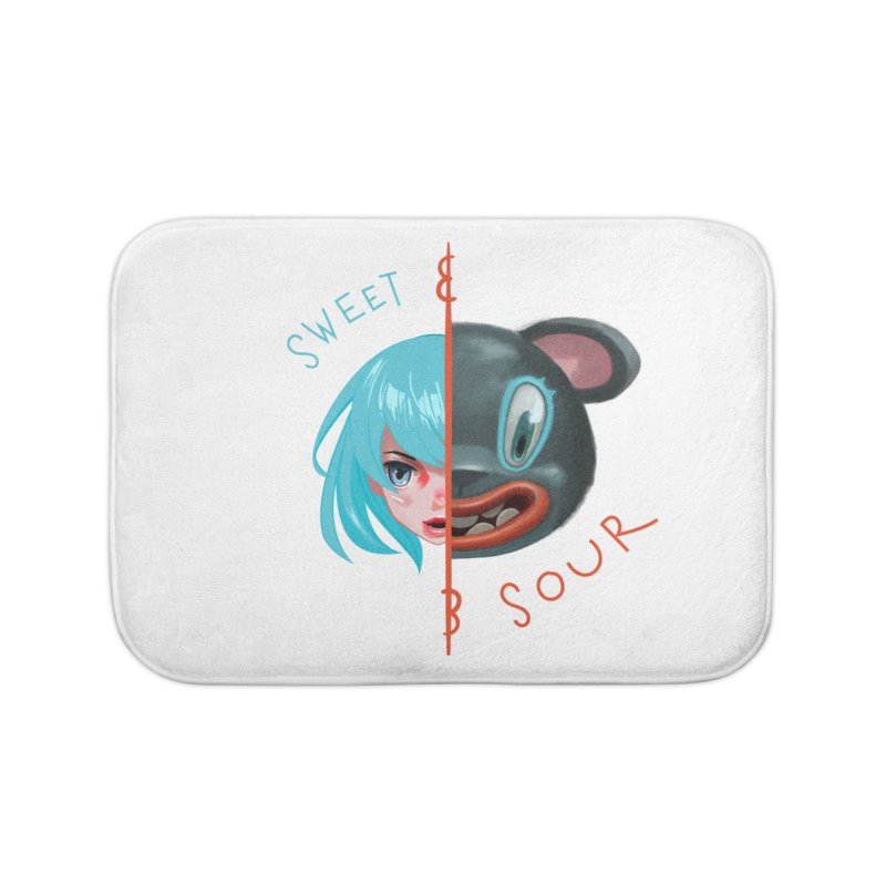 Sweet & sour Home Bath Mat by fake smile