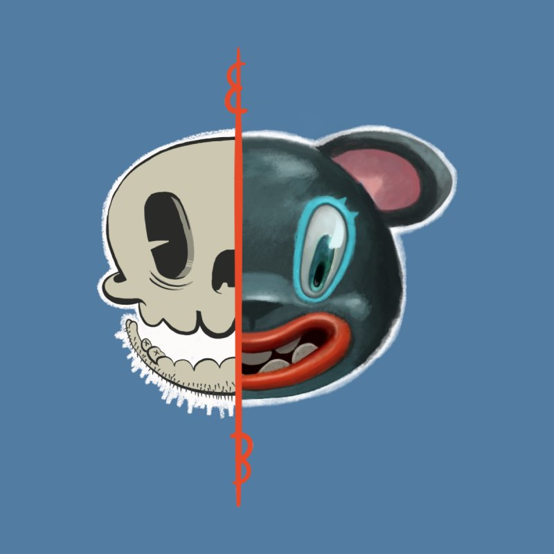 Half skull by fake smile