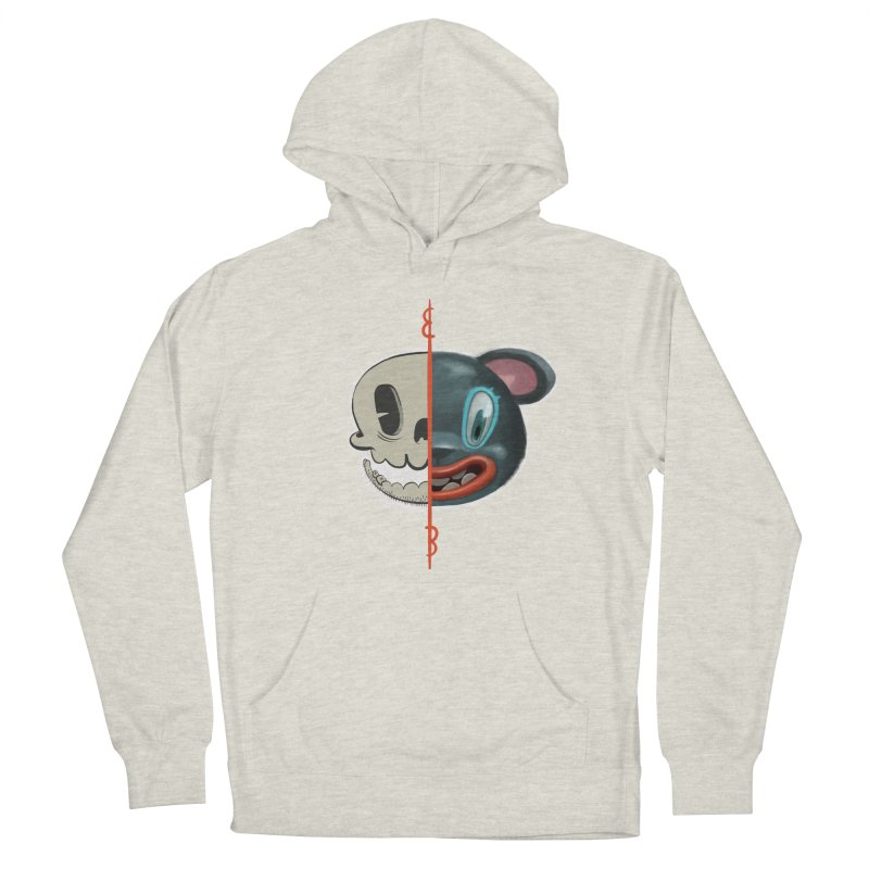 Half skull Men's Pullover Hoody by fake smile