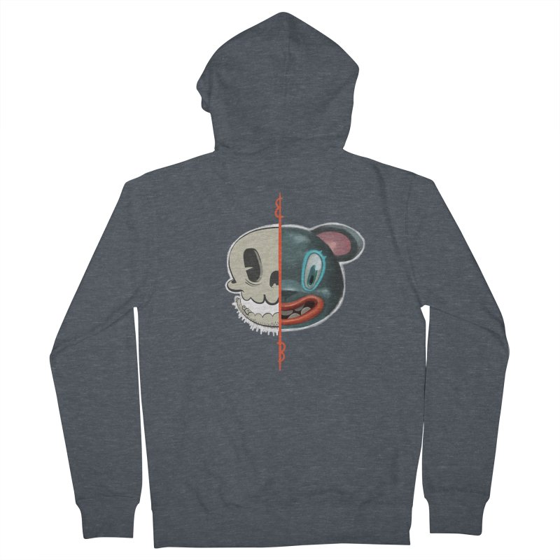 Half skull Men's Zip-Up Hoody by fake smile