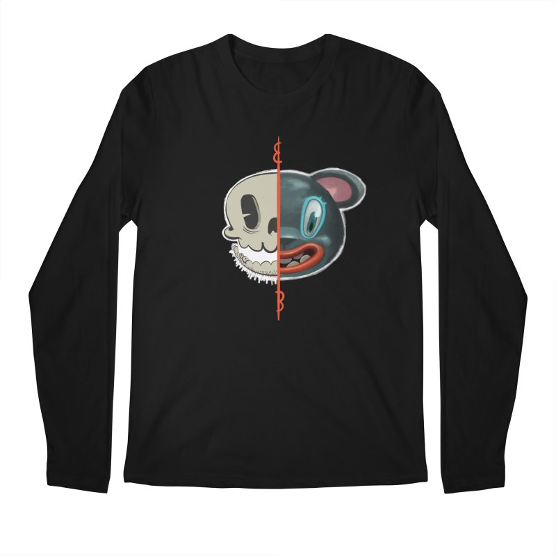 Half skull Men's Longsleeve T-Shirt by fake smile