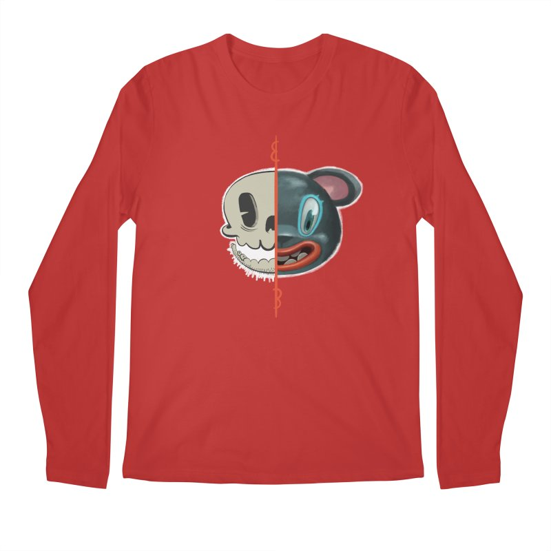 Half skull Men's Regular Longsleeve T-Shirt by fake smile