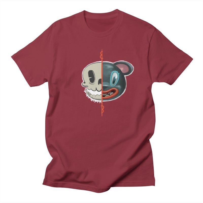 Half skull Women's Regular Unisex T-Shirt by fake smile