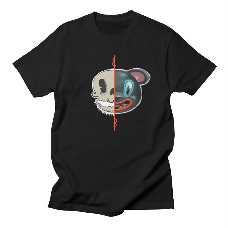 Half skull Men's T-Shirt by fake smile