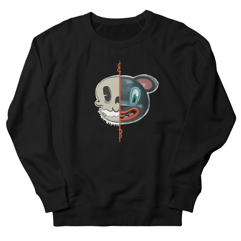 Half skull Women's Sweatshirt by fake smile