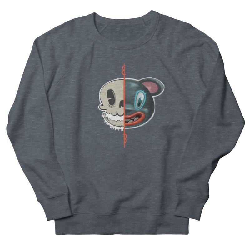 Half skull Men's Sweatshirt by fake smile