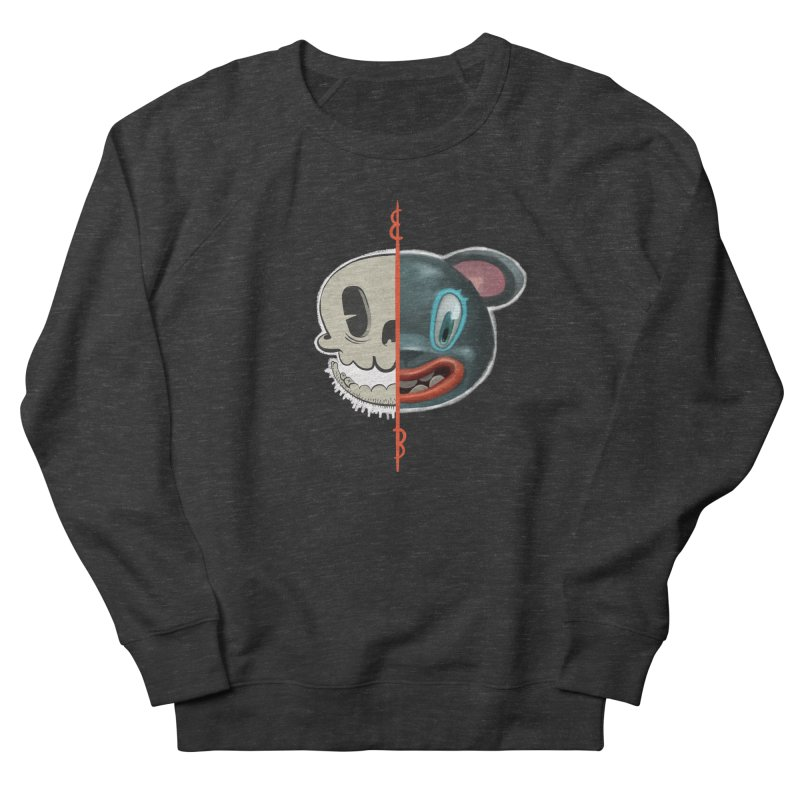 Half skull Men's French Terry Sweatshirt by fake smile
