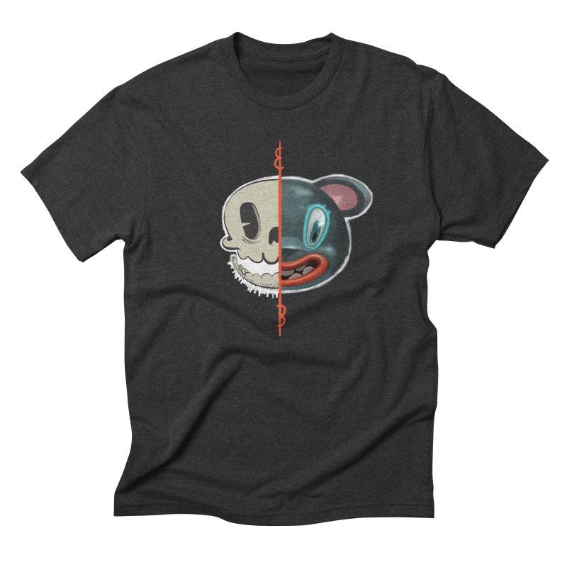 Half skull Men's Triblend T-Shirt by fake smile