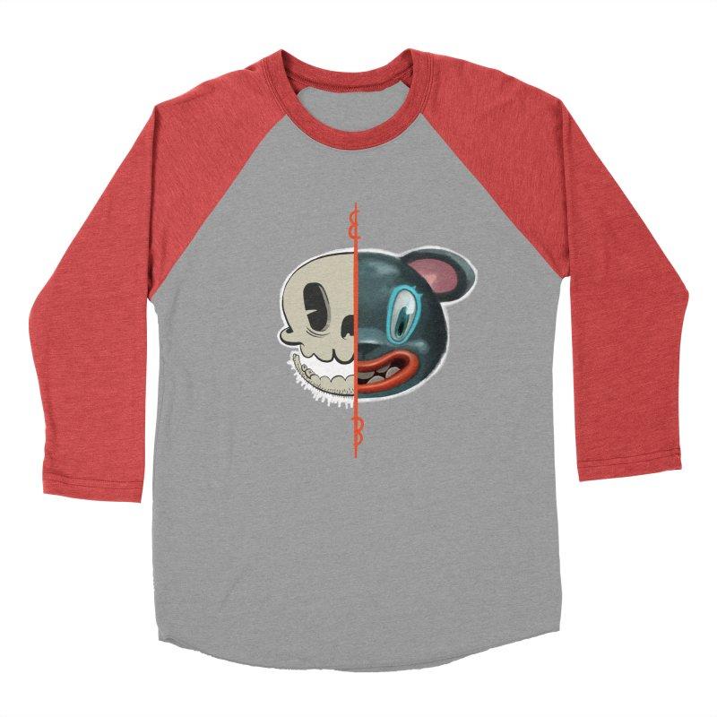 Half skull Women's Baseball Triblend T-Shirt by fake smile