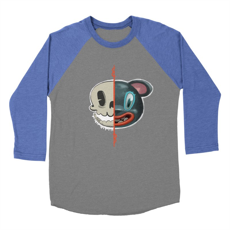 Half skull Men's Baseball Triblend T-Shirt by fake smile