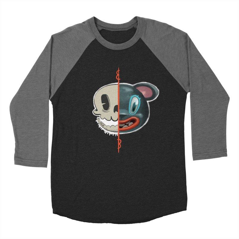 Half skull Men's Baseball Triblend T-Shirt by fake smile