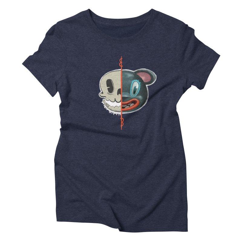 Half skull Women's Triblend T-Shirt by fake smile