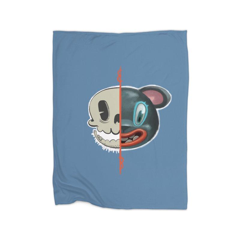 Half skull Home Blanket by fake smile