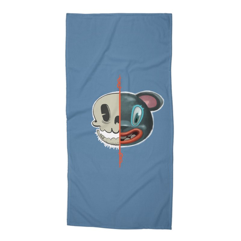 Half skull Accessories Beach Towel by fake smile